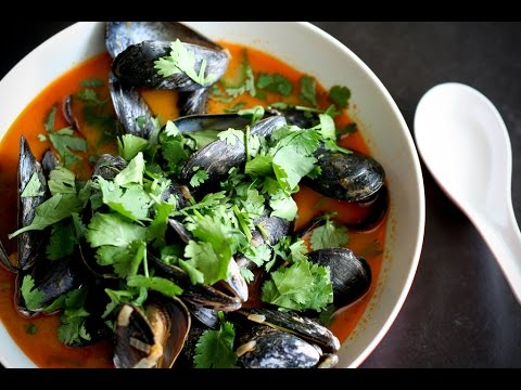 5 Minute Thai Style Mussels