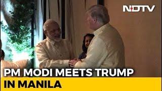 PM Modi, Donald Trump Shake Hands At ASEAN Dinner, Meeting Tomorrow