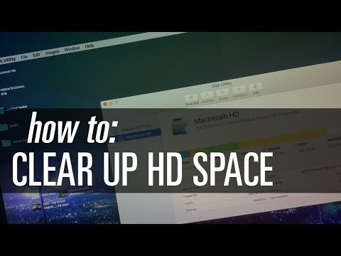 Clear Up Space on Your Hard Drive (MacOS & Mac OS X)