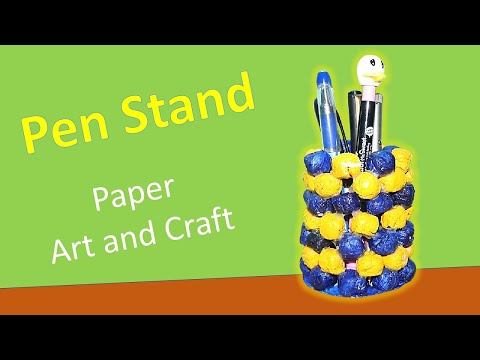 How to make a pen stand using old news paper