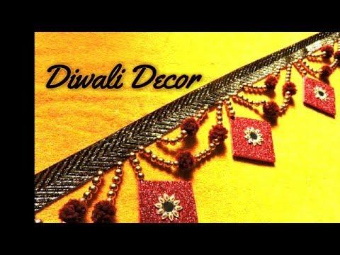 How to make Toran/ Bandanwar/ Door Hanging || DIY Diwali Decoration Ideas at Home ||