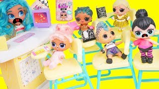 Download LOL Surprise Dolls School Bully Cheats on Test with Lils Fuzzy Pets   Toy Egg Video