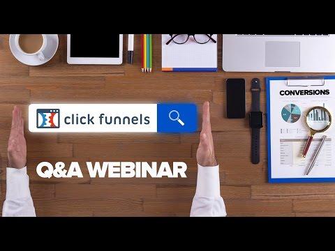 ClickFunnels Q&A Webinar - Jan 25, 2017 - Doing live webinars in ClickFunnels with YouTube Live