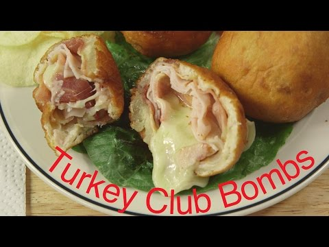 Bacon Turkey Club Sandwich Bombs | Sandwich Bombs Recipe