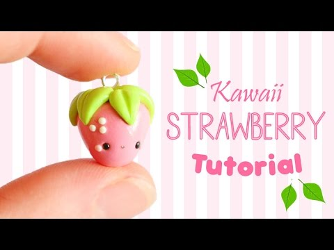 Easy Kawaii Strawberry│Polymer Clay Tutorial