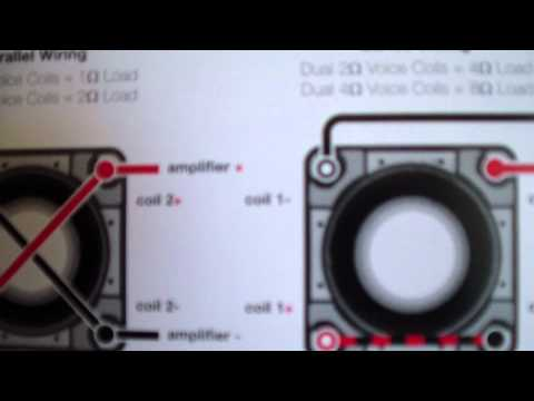 How to wire 2 DVC 4ohm subwoofers bridged 2 ch. amp. Watch ... Kicker Solo Baric L Wiring Diagram on kicker cvr wiring diagram, kicker comp wiring diagram, kicker l5 wiring diagram, kicker l3 wiring diagram, kicker amp wiring diagram, kicker l7 wiring diagram,