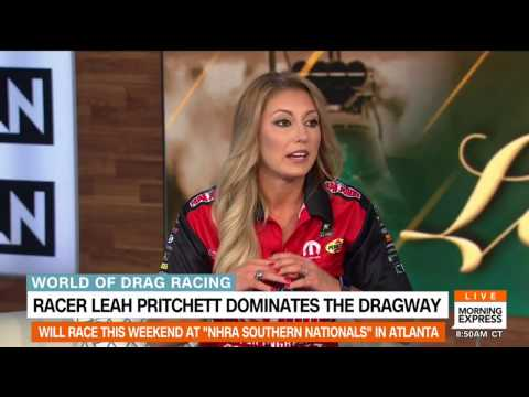 NHRA Drag Racing star Leah Pritchett on Morning Express with Robin Meade