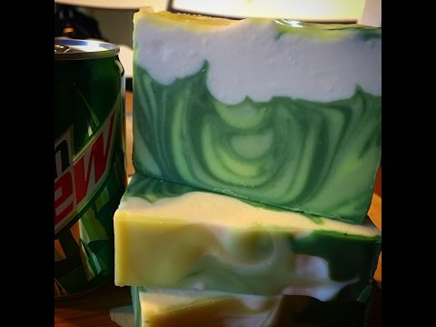 Making & Cutting of Mtn Dew Fuel CP Soap | The Soaping Owl
