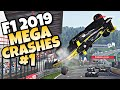 F1 2019 MEGA CRASHES 1