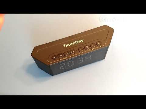 tsumbay bluetooth speaker / clock / alarm review