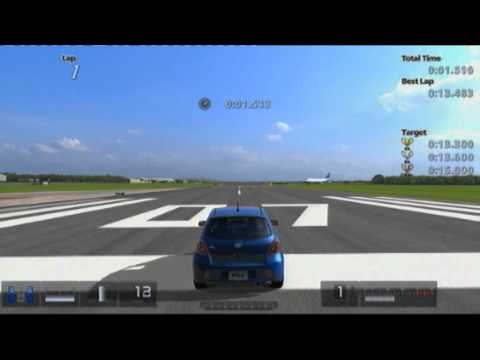 Gran Turismo 5 | Licence B | 200m Stopping Challenge | Toyota VITZ RS 1.5 (GOLD AWARD)
