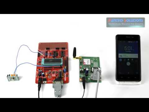 PIR sensor and GSM based security system MICROCONTROLLER