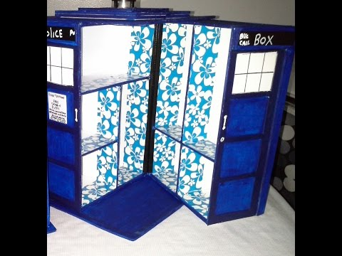 DIY  COMO HACER UNA TARDIS del ☆ DOCTOR WHO☆♡HOW TO MAKE A TARDIS