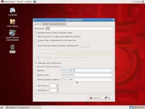 How to set a Linux server's IP address