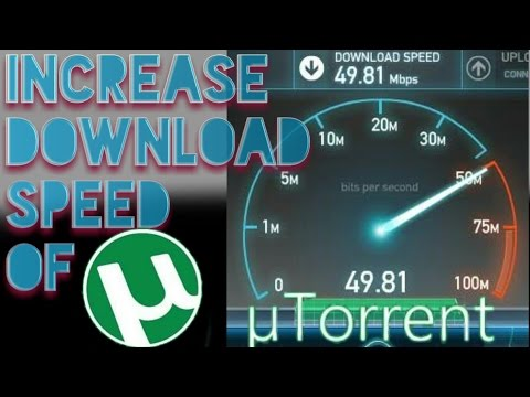How to increase utorrent download speed on Android?