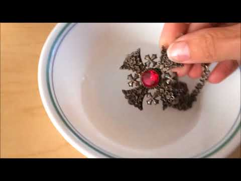 How to polish Silver Jewelry Quick Easy Gold filled Sterling 925 Tutorial How to remove tarnish