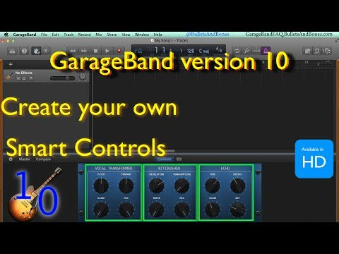 Create your Own Smart Controls for GBv10 - Minute GarageBand