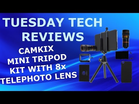 CAMKIX MINI TRIPOD KIT WITH 8X TELEPHOTO LENS UNBOXING AND REVIEW