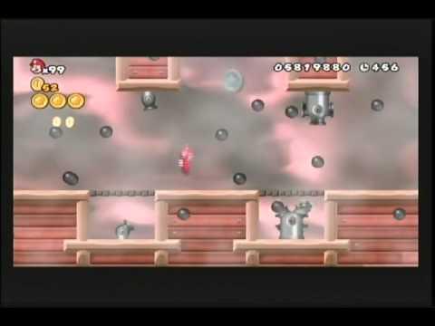 New Super Mario Bros. Wii: World 8-7 & Airship
