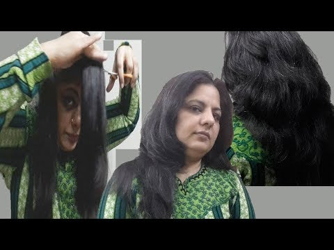 How I Cut My  Hair Myself at Home Long Layers-Own Hair Cutting Tutorial-अपने बाल खुद केैसे कांटे ?
