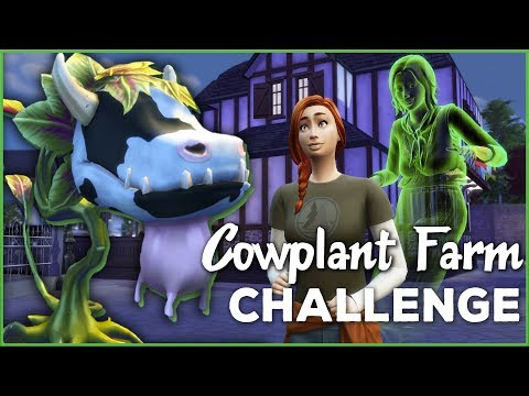Best Friends with the Family Ghost!! 🐄🌱 Sims 4 Cowplant Farm: Episode #20