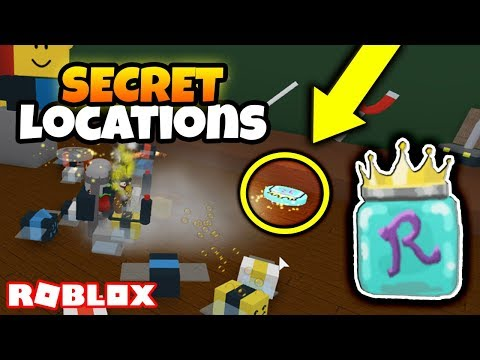 ALL *SECRET* ROYAL JELLY LOCATIONS! *I DESTROYED THE WHOLE MAP* (Roblox Bee Swarm Simulator)