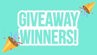 WINNERS! 10k Subscriber Giveaway Winners Announced! ZoeTwoDots