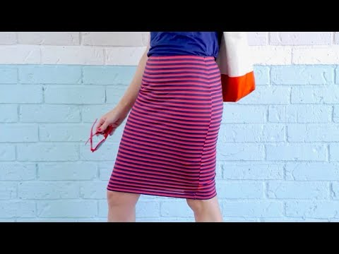 How to sew a knit Pencil Skirt, in 20 minutes!