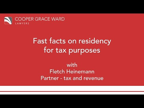 Fast facts on residency for tax purposes