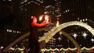Cavalcade of Lights 2017 Fire Act Play Nathan Phillips Square Toronto