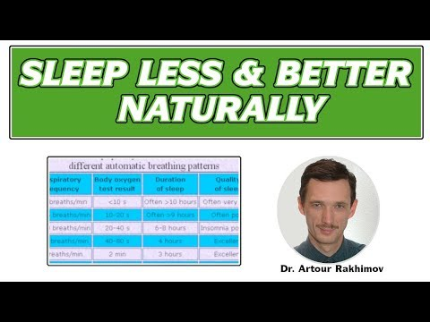 How to Sleep Less and Better Naturally (Prevent Insomnia and Sleep Problems)