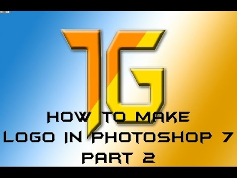 How to make logo in Photoshop 7 (2).