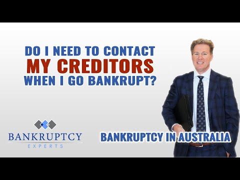 Do I Need to Contact My Creditors When I go Bankrupt?