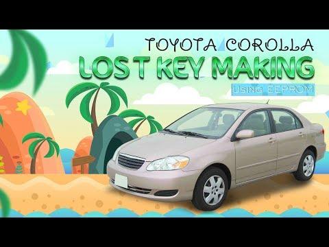 Toyota Corolla (4C Chip, Old model) Lost Key using EEPROM