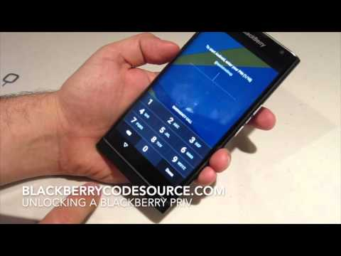 Unlocking a Blackberry Priv - Unlock code provided by blackberrycodesource.com