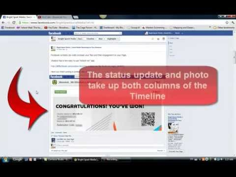 Timeline Facebook Tutorial - Pin to Top or Highlight Status Update on Facebook Page.mp4