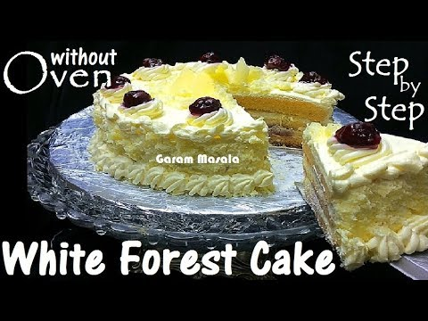 White Forest Cake without oven Step by Step Instructions for Beginners.