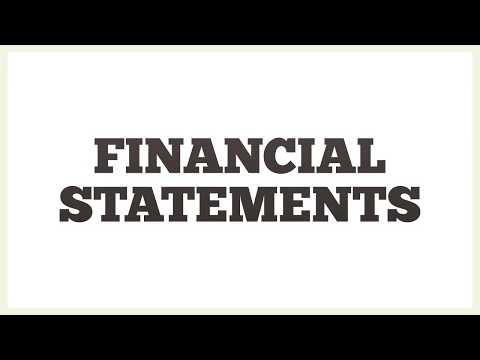 Explaining 4 Financial Statements