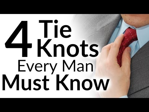 4 Tie Knots Every Man MUST Know | Best Tie Knots For EVERY Neck And Collar Type | Video Tutorial