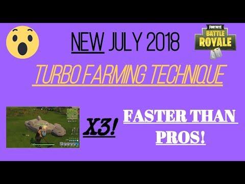 [Fortnite] NEW TURBO FARMING TECHNIQUE JULY 2018 META