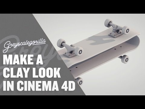 Cinema 4D Tutorial - How To Make A Clay Render Look In Cinema 4D