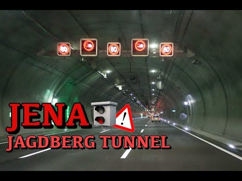 Jagdbergtunnel Jena Germany | Autobahn