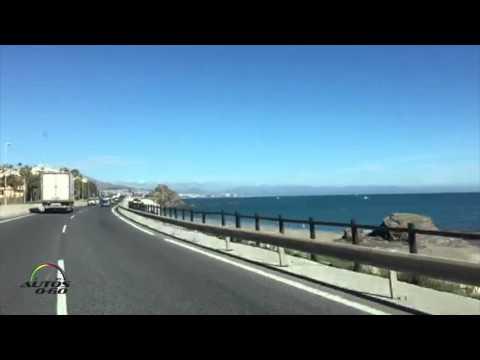 Driving from Marbella to Málaga, España