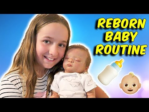 Reborn Baby Routine Changing Clothes and Feeding Lifelike Doll