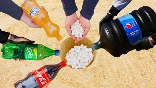 Experiment Cola, Fanta, Sprite, Pepsi, and Mentos Underground