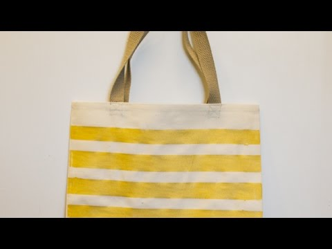 How To Create a Simple Painted Canvas Tote Bag - DIY Style Tutorial - Guidecentral