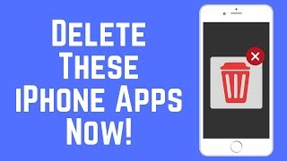 Delete These iPhone Apps Now! - Save Data / Storage / Battery 2018