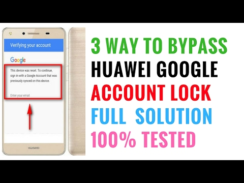 3 Way To Bypass Huawei Frp lock | Huawei Google Account Bypass | frp lock bypass Solution 2017 |Free