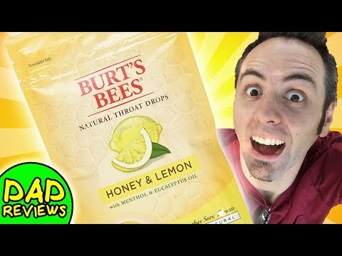 BEST COUGH DROPS   Burt's Bees Natural Throat Drops - Honey & Lemon Taste Test & Review