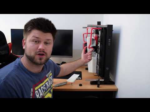 How to clean your water PC Water Loop | PC Water-cooling Build Log | Blood Red-ish | Part 2.5